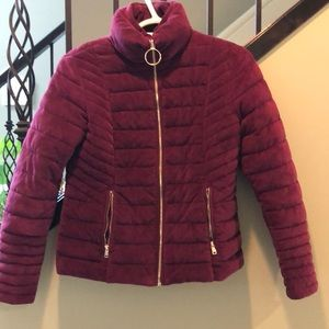 Guess girls size 14 winter velvety coat